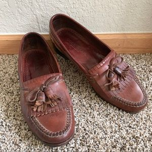 Cole Haan Mens Leather Kiltie Tassel Loafers